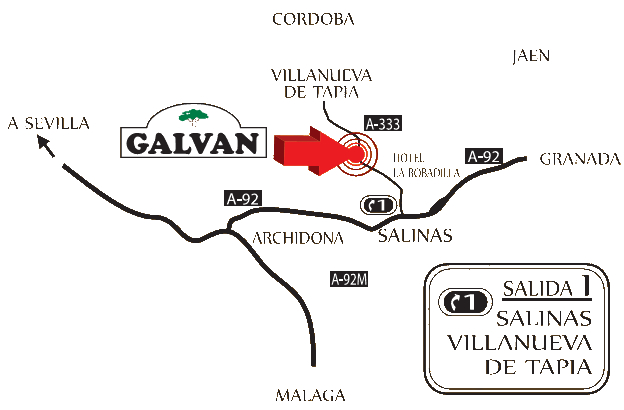 Location map of Cortijo Galván weddings malaga wedding antequera weddings andalucia